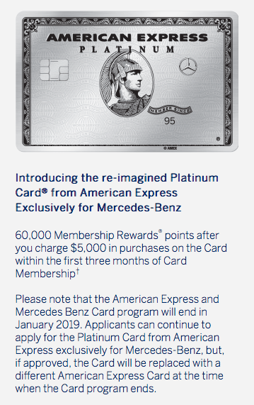 Mercedes benz cards from american express will be for Mercedes benz platinum card