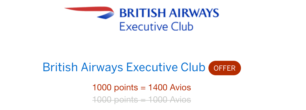 Points Transfer Bonus Offers: MR -> British Airways (BA
