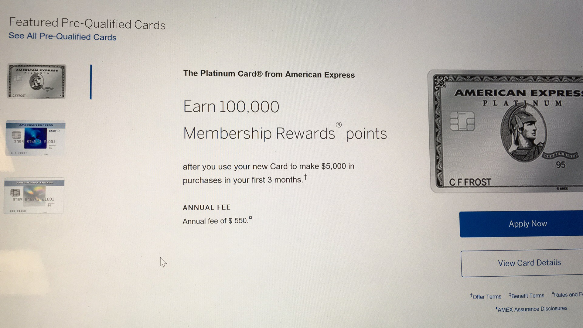 Sign american express card