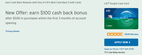 Citi Double Cash——卡如其名【3/9更新:新增0开卡奖励】