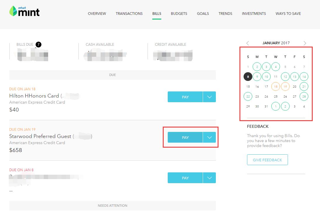 管账好帮手 - Mint使用指南【1/8更新:bill pay功能】