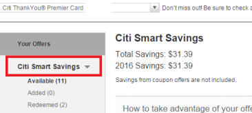 【starbucks 10%】Citi Smart Savings使用指南