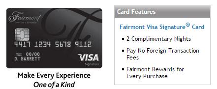 Chase Fairmont 信用卡——奢华2晚【1/12更新:新的可用链接】