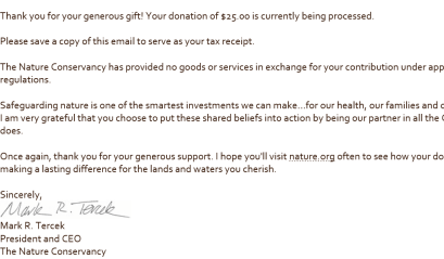 Swagbucks+NatureConservancy捐款=减税+倒赚【12/31更新:4000sb offer, 倒赚】