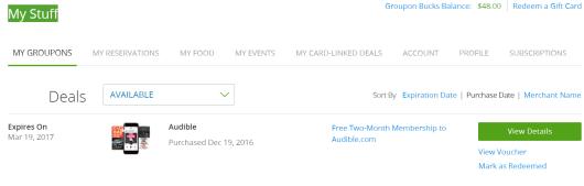 【已过期】免费2月audible gold+ amazon【2/20更新:别忘了取消会员!】
