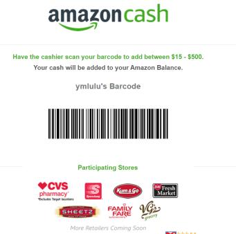 Amazon Cash充 送