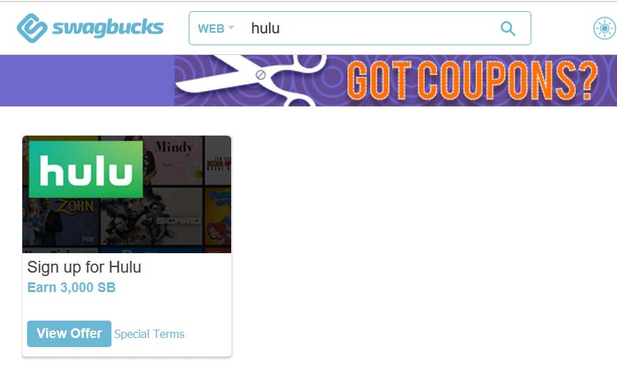 Swagbucks+Hulu订阅=倒赚+免费会员【11/16更新:最多倒赚35!】