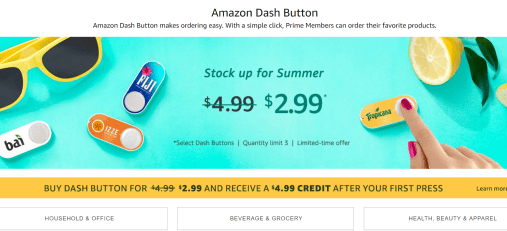 Amazon Dash Button玩法介绍【7/10更新:只需0.99,倒赚4刀又来了】
