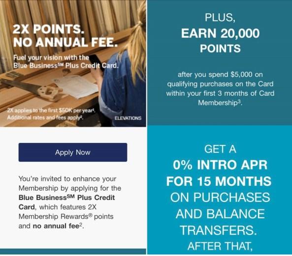 AMEX Blue Plus for Business 商业信用卡【2/27更新:10k奖励申请链接】