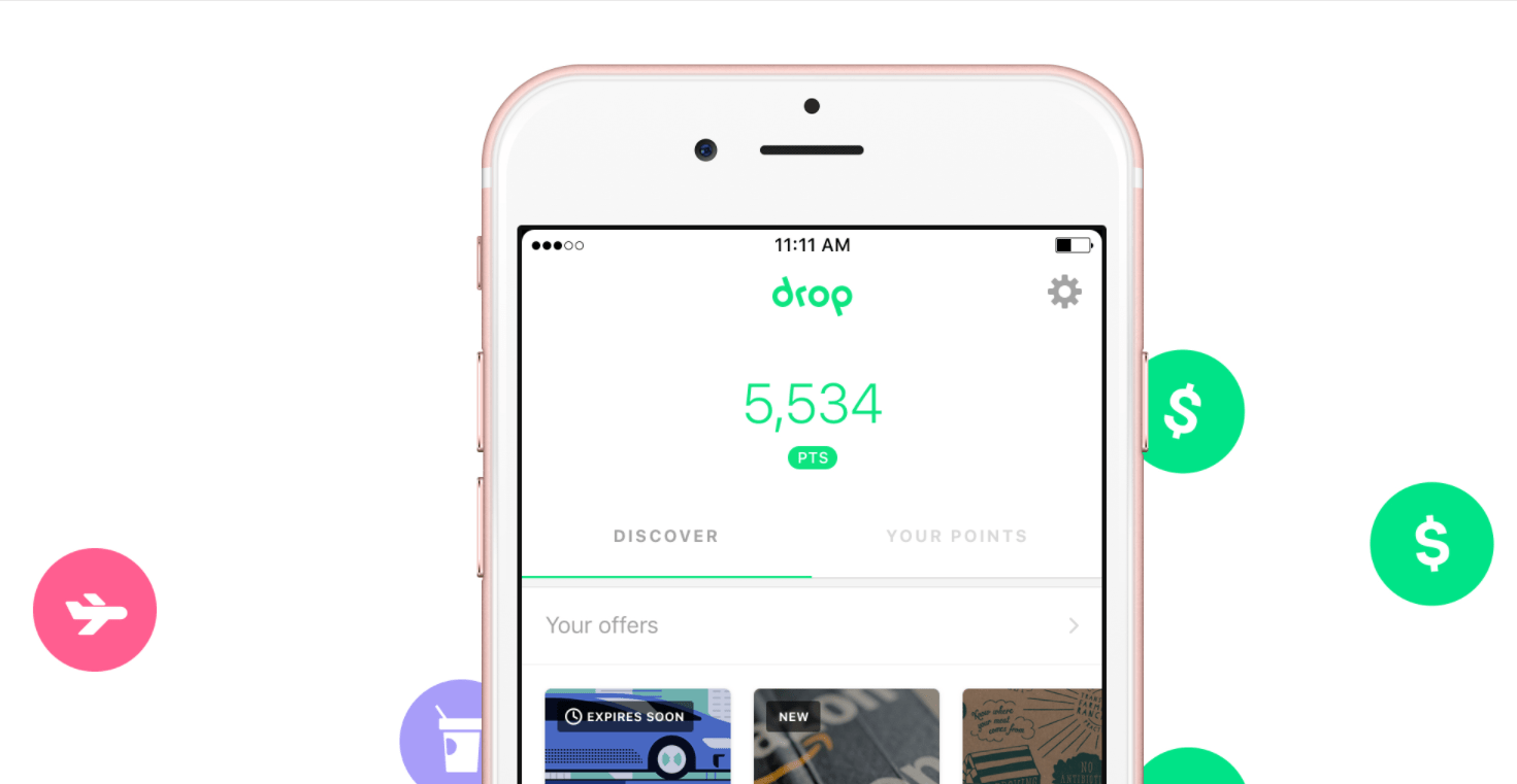 Drop APP introduce --Amazon, supermarkets, Uber back now to send home [8/3 Update: Priceline1%, Frank + Oak5% cash back]