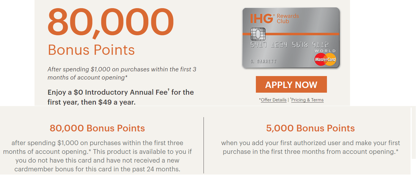 Chase IHG Rewards Club credit card [80k Match 100k Success Stories]