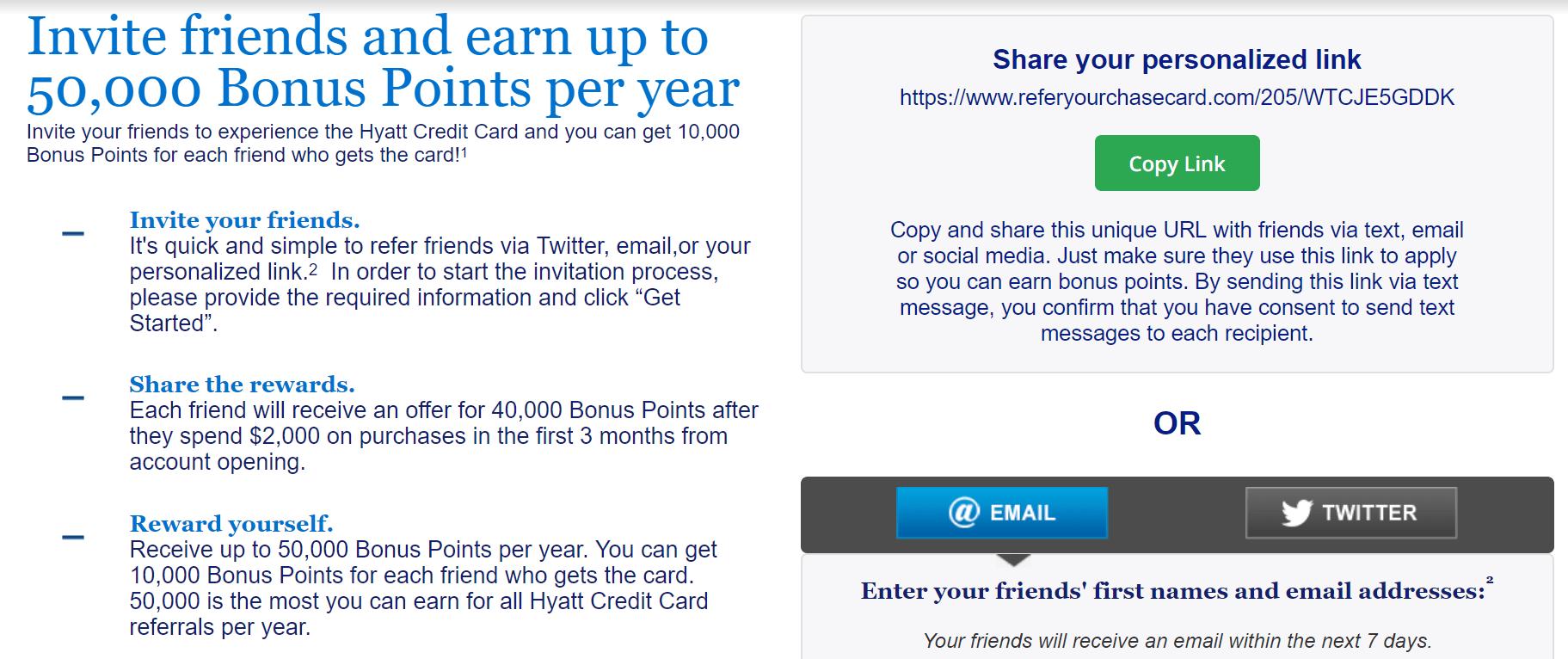 Chase Hyatt 信用卡【11/9更新:开放了refer,一人10k】