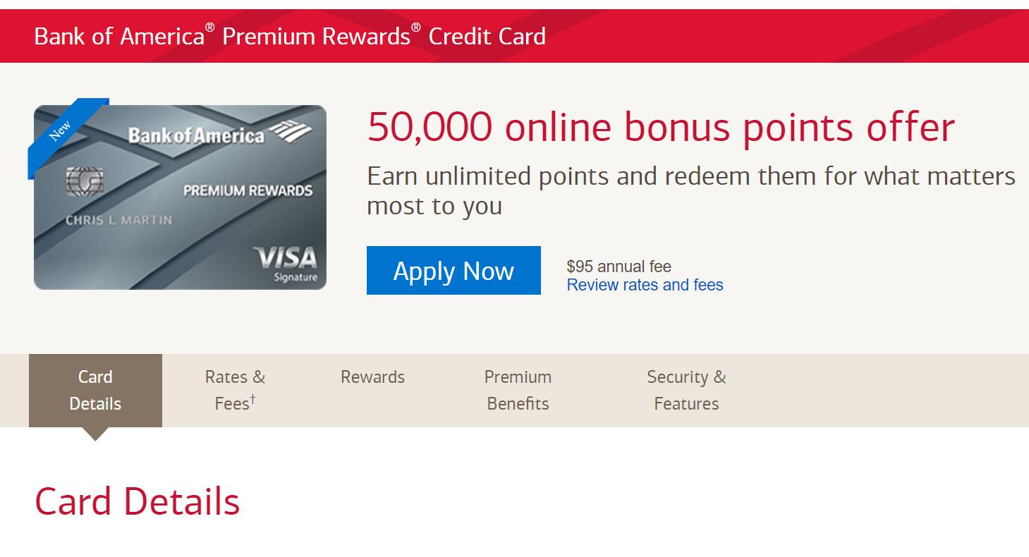 BOA Premium Rewards信用卡【9/18更新:正式上线,可以开始申请】