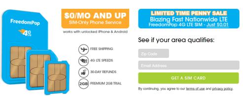 自由泡(Freedompop)使用指南——100%免费的手机服务【11/2更新:只需1c+近期问题解答】