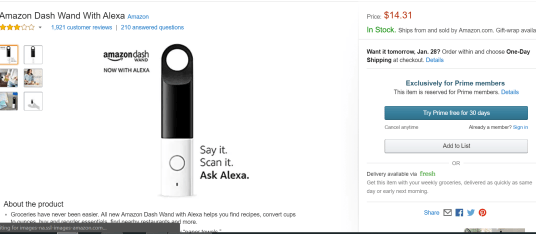 Amazon Dash Button玩法介绍【1/27更新:Dash Wand倒赚