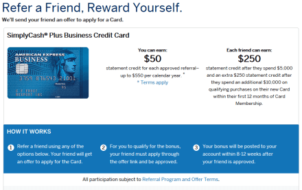 AMEX SimpleCash Plus 商业信用卡【4/10更新:开卡送0,增加Refer a Friend功能】