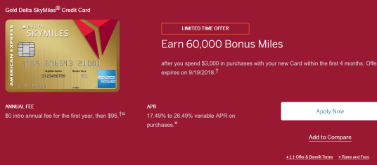 AMEX Gold Delta 信用卡【60k开卡奖励】