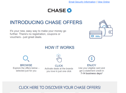 Chase Offer 使用指南【12/25更新:staples 40%+sephora 10%】