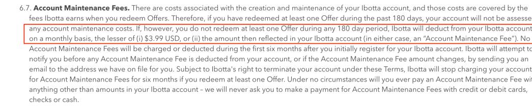 返钱工具 Ibotta 介绍——聚沙成塔【1/18更新:增加了inavtive fee https://www.uscreditcards101.com/wp-content/uploads/2018/12/201901181630041.99】