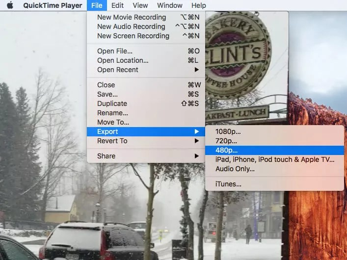 video converter software to make Video Files smaller with QuickTime player
