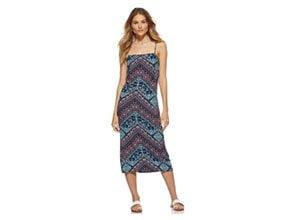 Scoop Womens Midi Slip Dress