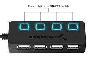 Sabrent 4-Port USB 2.0 Hub