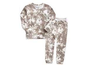 Marbling Sung Fit Sleepwear Pajamas 2pcs