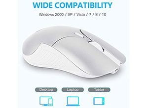 OMOTON 2.4G Rechargeable Slim Wireless Mouse