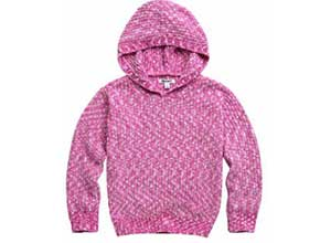 DKNY Youth Chenille Hooded Sweater