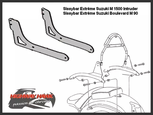 Sissy-Bar Extrême Suzuki Intruder M 1500 Highway-Hawk