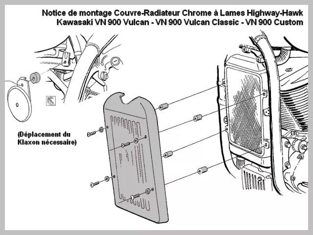 Accessoire Cadre et Plaque Highway-Hawk Couvre-Radiateur