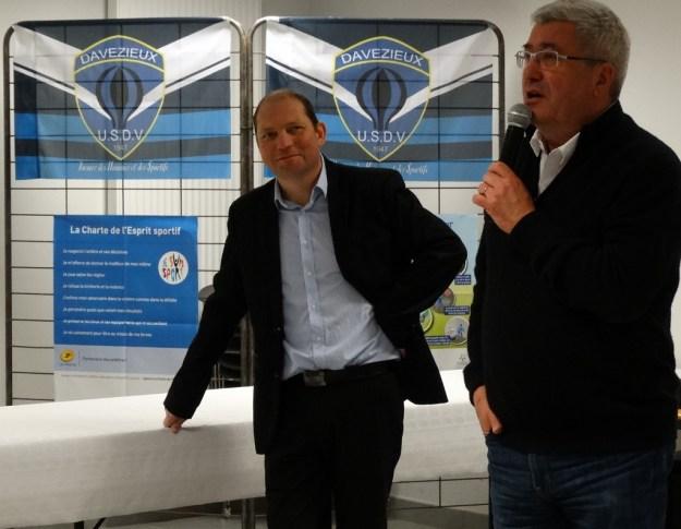 Alain Zahm maire de Davézieux, conscient de l'importance de l'USDV sur sa commune