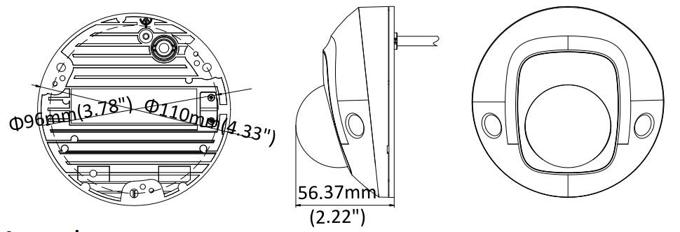 Hikvision DS-2CD2555FWD-I 5MP Mini Dome Network Camera