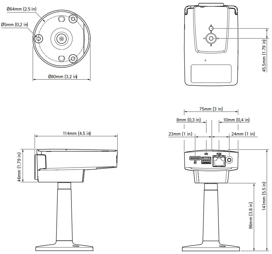 Axis M1145-L 2 Megapixel Network Camera 0591-001 ¦ use-IP Ltd