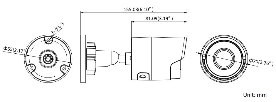 Hikvision DS-2CD2055FWD-I 5MP Mini Bullet Network Camera