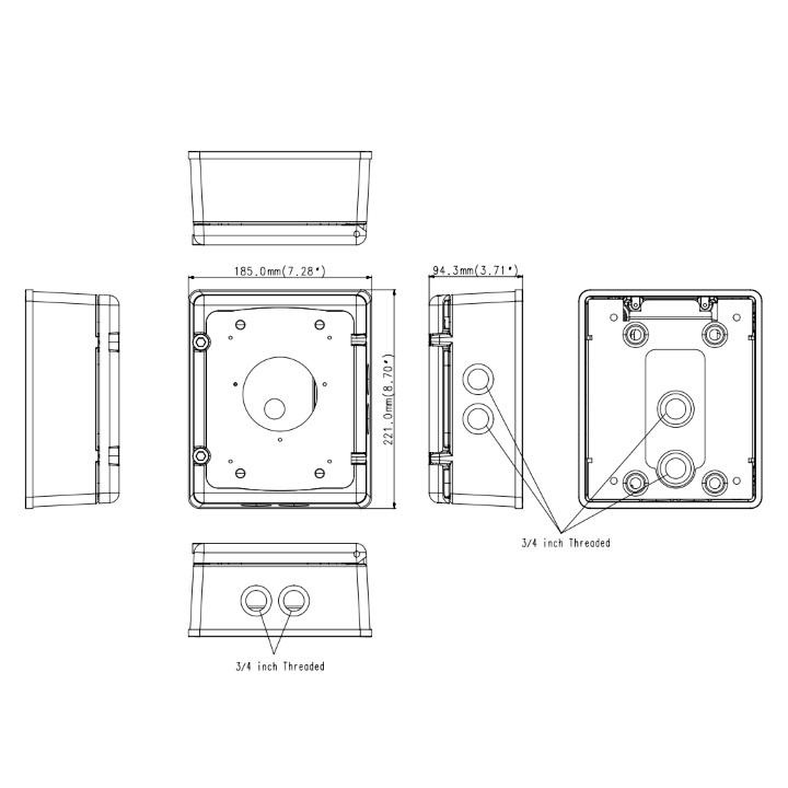 Samsung SBP-300NB IP66 Installation Box ¦ use-IP Ltd