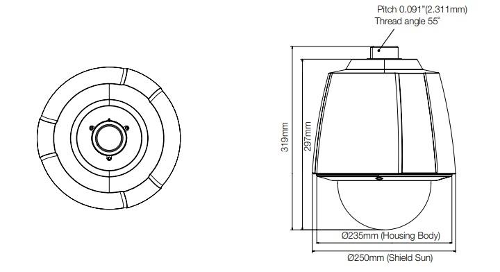 Wisenet SHP-3701H Outdoor PTZ Camera Housing ¦ use-IP Ltd