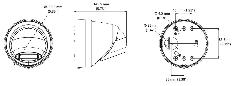 Hikvision DS-2CD2H35FWD-IZ 3MP Vari-focal Turret Network