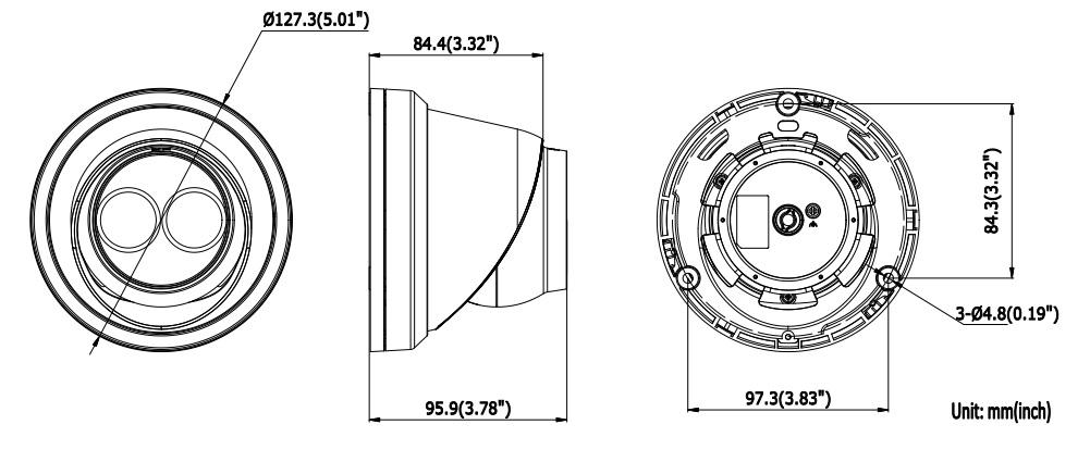 Hikvision DS-2CD2383G0-I/B 8MP Black Turret Network Camera