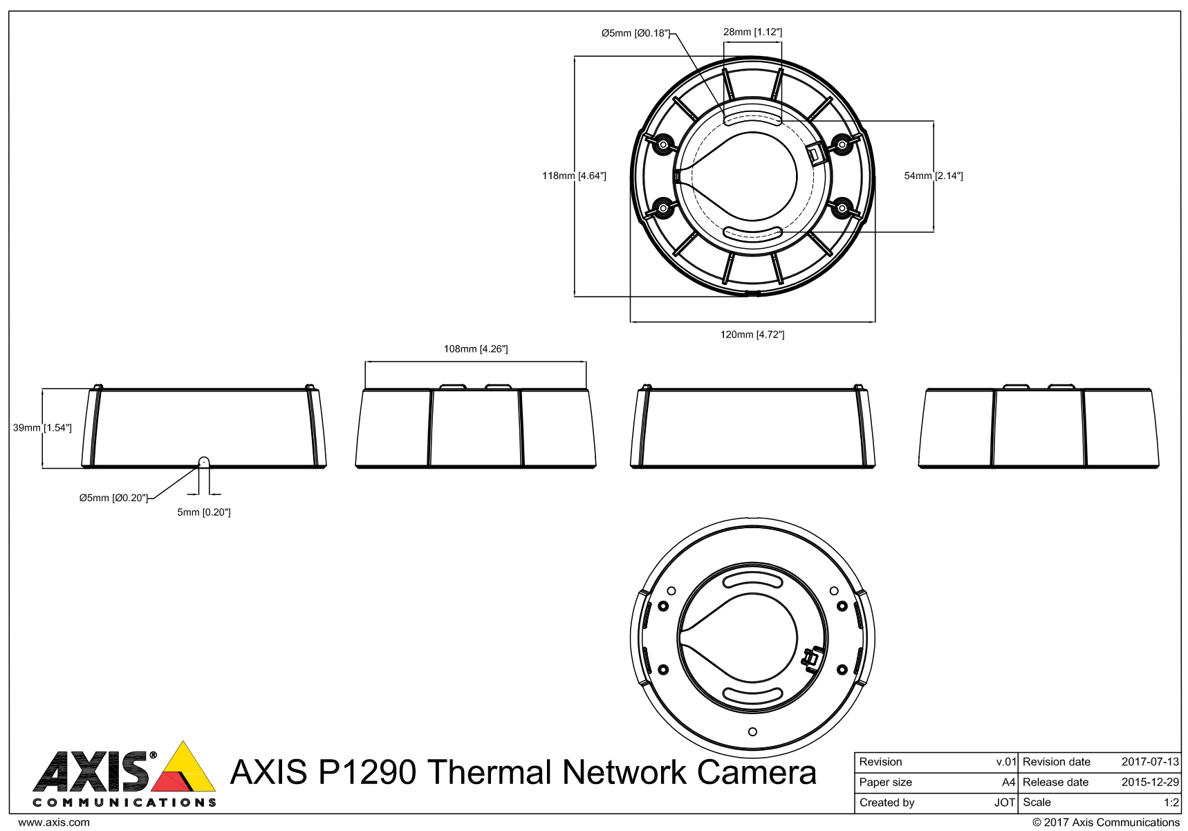 Axis P1290 Thermal Network Camera 01168-001