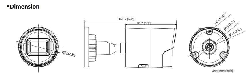 Hikvision DS-2CD2046G2-IU 4MP AcuSense IR Fixed Bullet