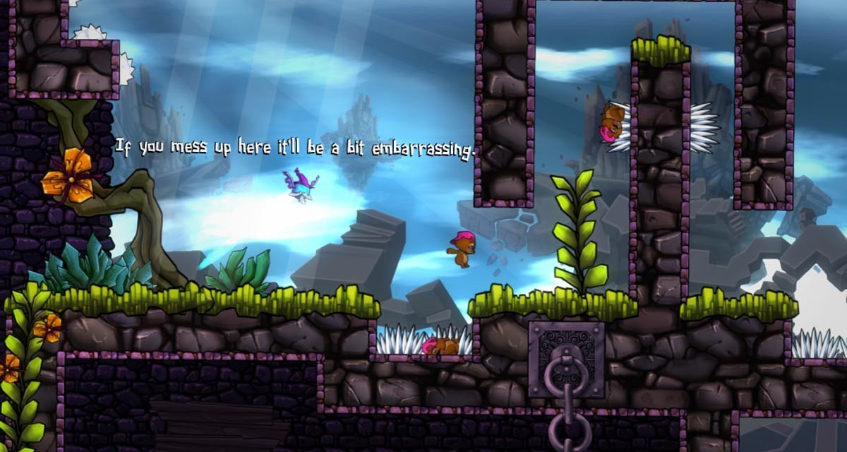 Hardcore platformer Super Rude Bear Resurrection hits Steam Greenlight