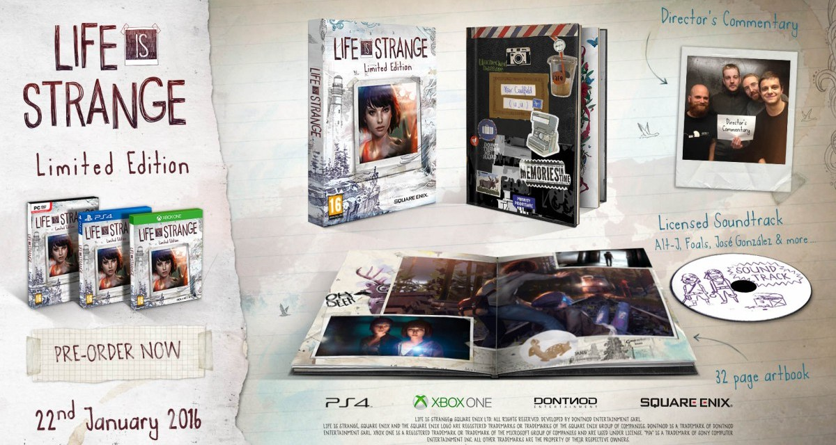 Limited edition physical release of Life Is Strange coming January 2016