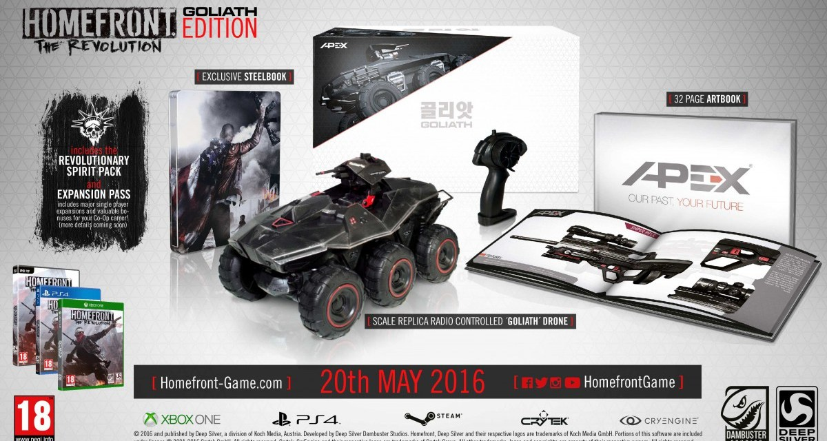 Goliath Edition of Homefront: The Revolution revealed – includes a remote control drone