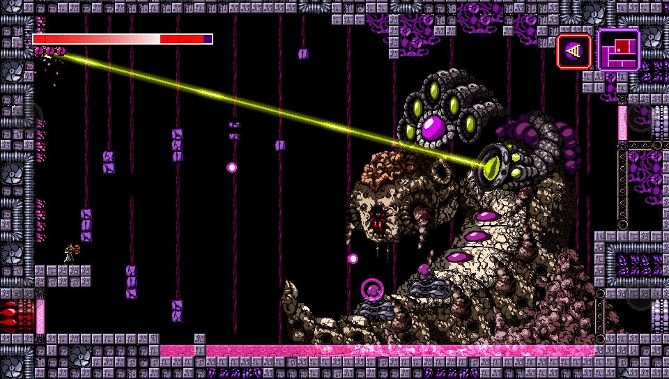 Metroidvania style action title Axiom Verge hits the Playstation Vita this month