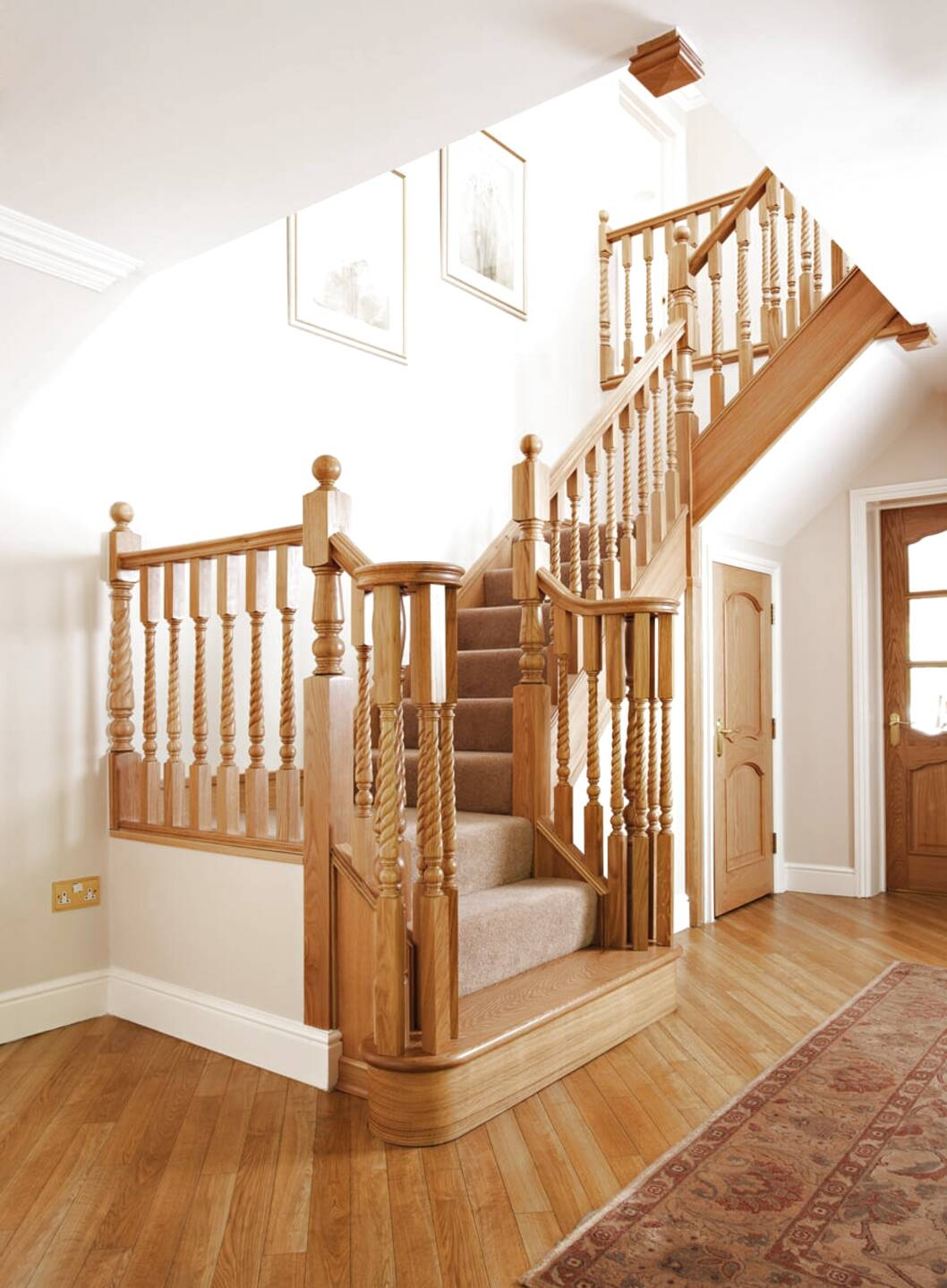 Oak Staircase For Sale Only 2 Left At 65 | Reclaimed Oak Staircase For Sale | Spindles | Reclaimed Wood Stair Railing | Spiral Staircase | White Oak | Architectural Salvage