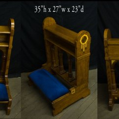 Church Chairs With Kneelers Recovering Chair Cushions Corners Prie-dieu / - Used Items