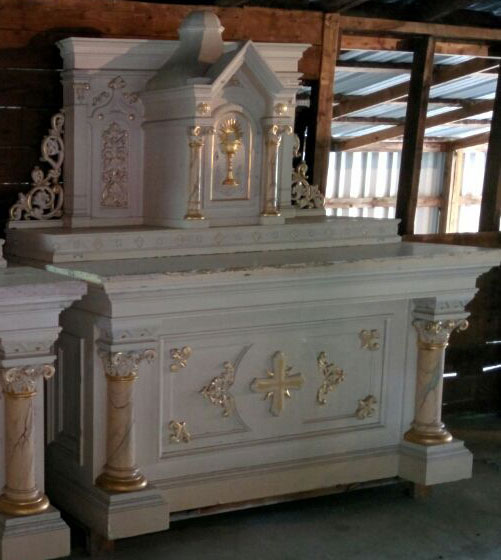 One of our Altars Restored  Used Church Items