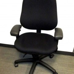 Ergonomic Chair Used Covers And Tablecloths Wholesale Office Chairs Systems Furniture Body Bilt Black Fabric Task