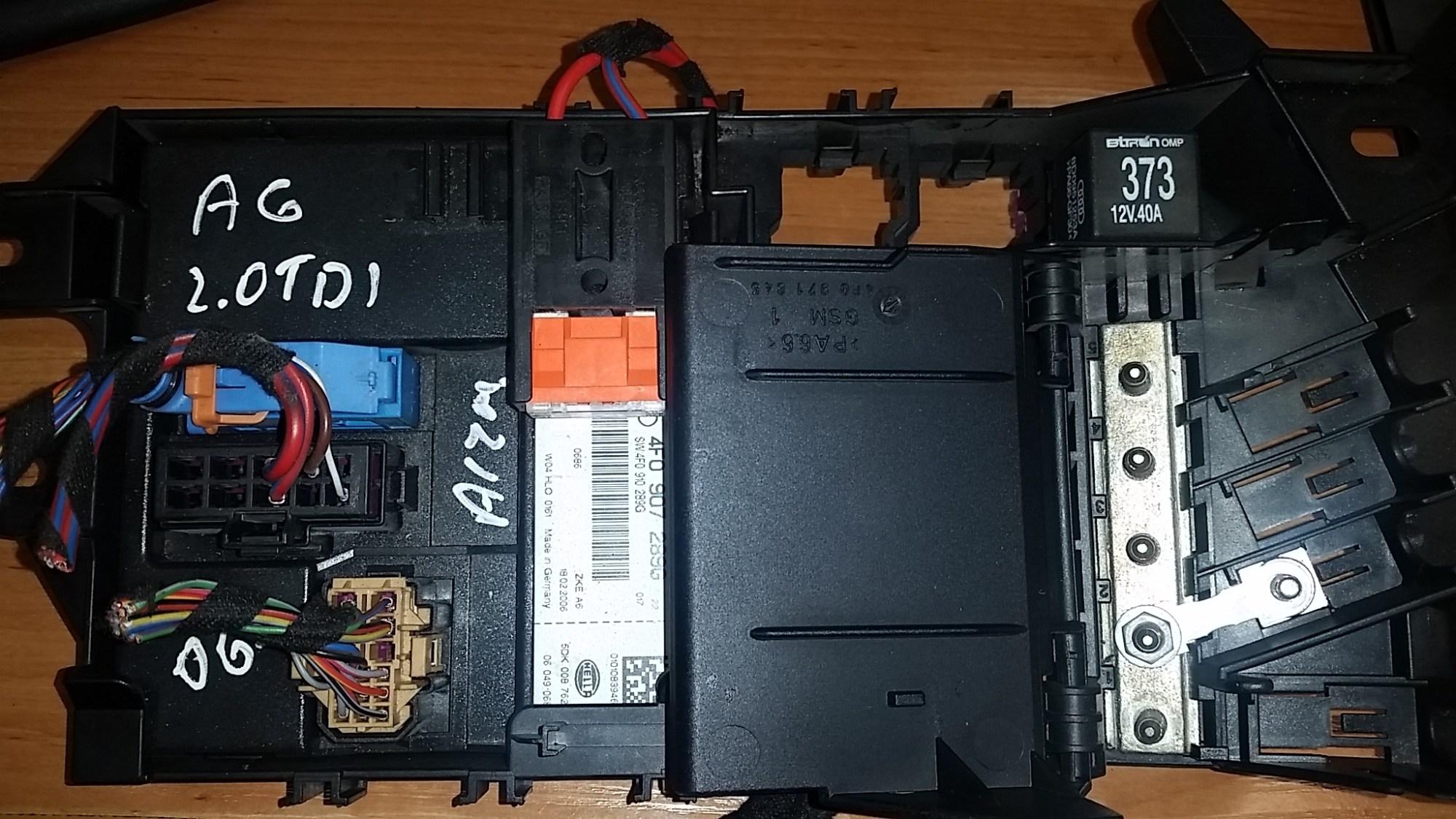 hight resolution of audi a6 c6 2006 2 0 tdi fuse box and comfort module ecu hella article 4f0907289g 4f0 907 289 g